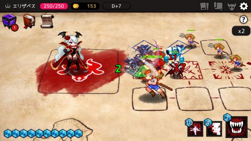 DungeonMaker戦闘シーンスクリーンショット