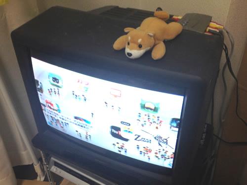 10年以上前に購入した赤白黄色AV端子なアナログテレビにWii専用AVケーブルでWiiUを接続してみた