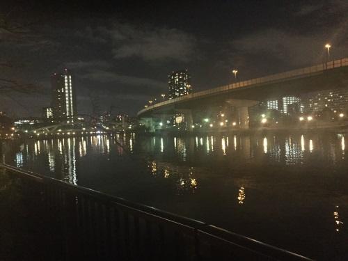 淀川河川敷(夜間)
