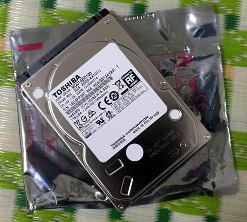 東芝2.5インチSATA9.5mm厚1TB MQ01ABD100