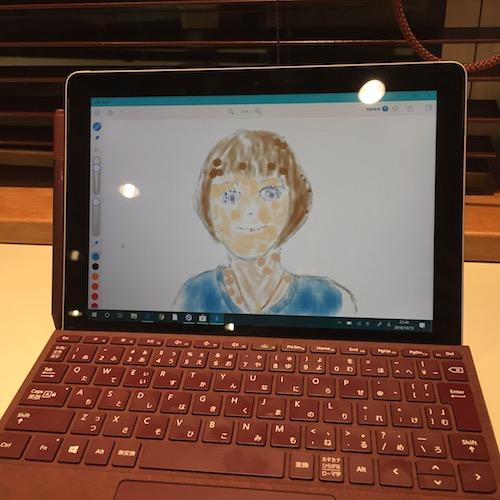 Surface Go + Pixiv Sketchで絵を描く