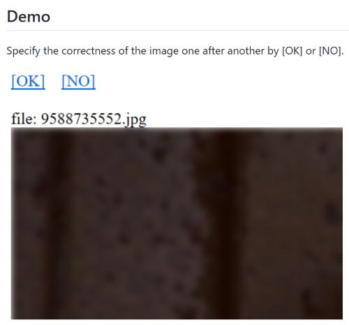 manually image classification for AIの使用例